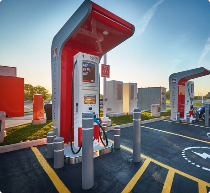One of Petro-Canada's car chargers.