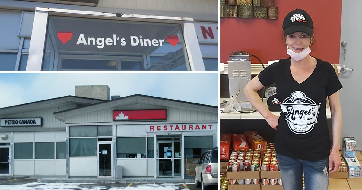 A picture of Crystal Blair and her restaurant