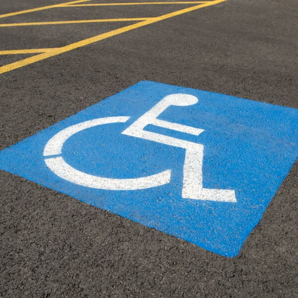 Disabled parking spot at a Petro-Canada gas station