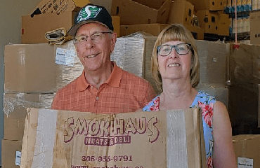 Millsap Fuel Distributor delivering to an area food bank