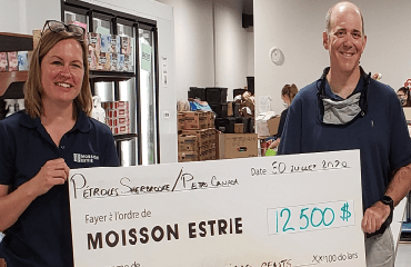 Pétroles Sherbrooke assisted with food security in the community.