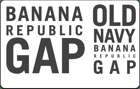 Gap, Banana Republic and Old Navy gift card