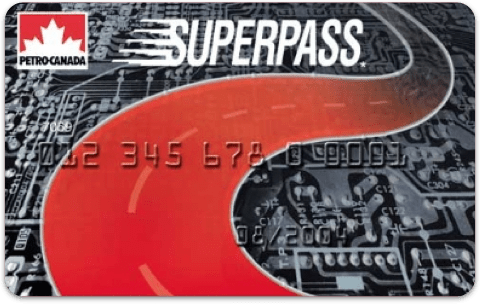 The front of a SuperPass card.