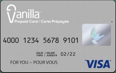 Vanilla prepaid Visa gift card